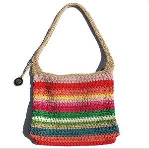 The Sak Rainbow Crocheted Classic Shoulder Bag